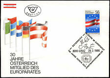 Austria 1986 Council Of Europe FDC First Day Cover #C24267
