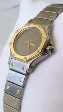 Authentic Cartier Santos Octagon Ladies Steel 18K Gold Automatic Watch