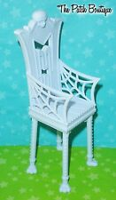 MONSTER HIGH CATACOMBS PLAYSET DOLL FURNITURE REPLACEMENT WHITE DINING CHAIR #1