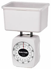 Taylor Salter Mechanical Kitchen Diet Scale w/ Storage Container, White, 1-Pound