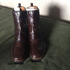 Zara Woman Brown Mock Croc Leather Boots Size 8/39 NWOB Retails $89.95