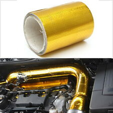 100* 5cm Roll Adhesive Reflective Gold High Temperature Heat Shield Wrap Tape  4