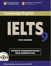 Cambridge IELTS 9 Book & CD's Set ESOL Examination Papers with Answers @NEW 2013