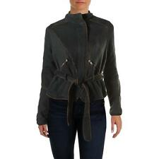 Free People 9462 Womens Black Twill Long Sleeves Anorak Jacket Coat L BHFO