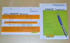 Weight Watchers Aktiv POINTS Rechner / Calculator mit Tagebuch Ihr Start in 2014