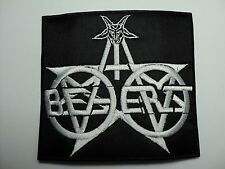 BEHERIT  WHITE  LOGO  EMBROIDERED PATCH