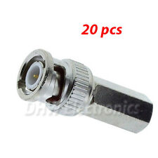 20 x BNC MALE 75Ω TWIST ON CCTV CONNECTORS  for RG59 CABLE
