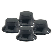 4pcs Black Top Hat Guitar Speed Bell Knob Volume Tone Control Knob White Mark