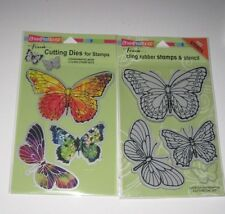Stampendous Fran's Cling Rubber Stamps & Cutting Dies - Butterflies - New #87