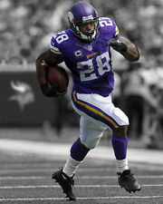 Minnesota Vikings ADRIAN PETERSON Glossy 8x10 Photo Spotlight Print Poster
