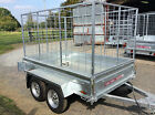 7x4 TWIN AXLE UNBRAKED,CAGED,BOX TRAILER, 8X4, 6X4 ,9X4 ,9X5 ,BRAKED, MOTORCYCLE
