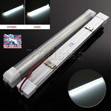 2pcs 12V 72 LED Car Interior White Strip Light Bar Lamp Van Caravan with ON/OFF