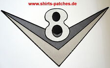 V8,Patch,Aufnäher,Aufbügler,Badge,Hot Rod,American Muscle Cars,XL