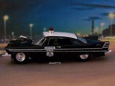 1957 PLYMOUTH FURY HOUSTON, TEXAS POLICE CAR COLLECTIBLE MODEL - 1/64 DIORAMA