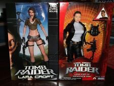 "TOMB RAIDER LARA CROFT  two 12"" dolls (1 by NECA & 1 by PLAYMATES)"