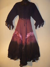 Lace Dress Fits L XL 1X Renaissance Black Pink Sexy Corset Stone~Wash Long 603
