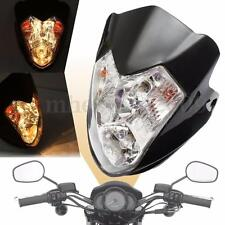 Motorcycle Bike ATV Headlight Fairing Light Dual Street Fighter Turn Signal Lamp