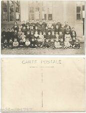 CPA postcard School Class PHOTO DE CLASSE Ecole Maître Maîtresse enfants [366 A]