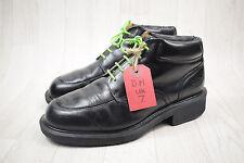Men's Vintage Made In England Dr Martens Black Leather Heeled Boots Size UK 7
