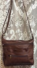 Leather Handbag LOCKING Conceal Carry CCW Holster Gun Purse R L Cross body BROWN