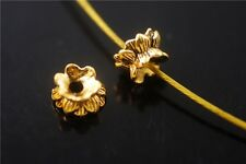 20pcs Golden Metal Beads Loose Spacer Jewelry Making Charms Crafts 5.5x9mm