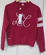 100% GENUINE LACOSTE WOOL women's SWEATER size 5 / check measurement RRP 99.90