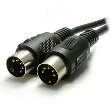 1m MIDI 5 Pin DIN Plug to 5 Pin DIN Plug Screened Cable [007235]