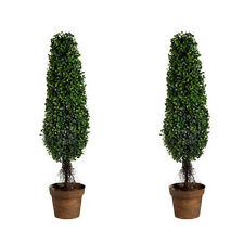 "Lot Of 2 36"" Artificial Boxwood Tree Plant - 58146"