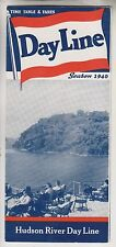1940 HUDSON RIVER DAY LINE - TIME TABLE & FARES BROCHURE