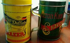 Set of Vintage Tin Salt and Pepper Shakers Elton Kirby's and Percival Duffin's