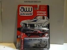 Auto World Vintage Muscle Ultra Red CHASE 1969 Pontiac Firebird Trans Am