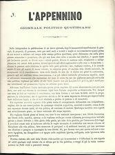 L'Appennino Giornale Politico Quotidiano Informazione Fondazione Unità d'Italia
