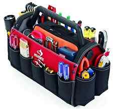 Tote Storage Organizer Electrician Contractor Handle Pocket Open Tools Carry Bag