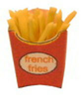 1:12 Scale Single Take Away French Fries Dolls House Miniature Food Accessory Si