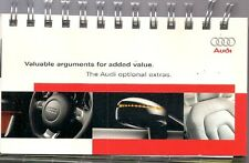 Audi Optional Extras 2008-09 UK Salesmans Brochure A3 A4 A5 TT A6 A8 Q5 Q7