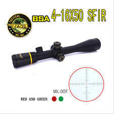 BSA 4-16X50 SFIR G&R MIL Dot 30mm Hunting Rifle Scope Optics Tactical Riflescope
