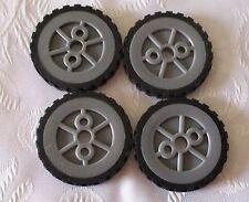 K'NEX Hub/Pulley Small & K'NEX Tyre Small  X 4 Pieces - KNEX SPARES & PARTS