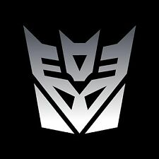 TRANSFORMERS Decepticons decals stickers 3 x 3 inch Chrome vinyl 2 decals