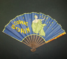 EVENTAIL PUBLICITAIRE ANCIEN COGNAC SORIN CHAMBRELENT ALCOOL ADVERTISING FAN OLD