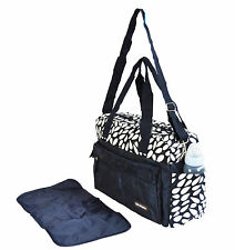 New Quality Baby Changing Bag Diaper Nappy Bags with Changing Mat, Dark Blue Bag