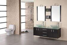 "DESIGN ELEMENT MODENA 60"" DEC005 MODERN DOUBLE VANITY BATHROOM CABINET SET"