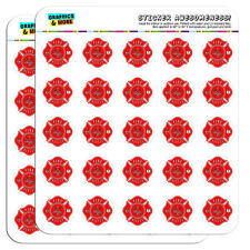 """Fire and Rescue Maltese Cross Red 1"""" Scrapbooking Crafting Stickers"""