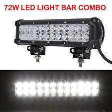 "12"" Inch 72W LED Work Light Bar SPOT FLOOD Offroad Fog Jeep SUV ATV 4X4 Ford UTE"