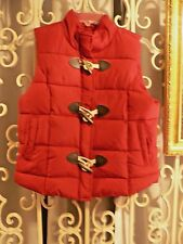 Arizona Vest Jacket Red Junior Women's Size M 7 - 9 Toggle Buttons Winter