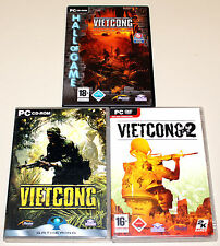 3 PC SPIELE SAMMLUNG - VIETCONG 1 & 2 & ADD ON PURPLE HAZE INKLUSIVE FIRST ALPHA