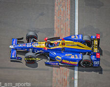 ALEXANDER ROSSI 2016 INDIANAPOLIS INDY 500 FINISH LINE WINNER 8x10 PHOTO