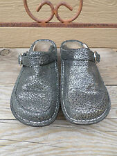 Alegria by PG Lite Black/Gold Sparkle Leather Clogs Mules Women's 38 / 8-8.5