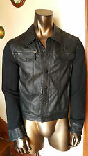 EMPORIO ARMANI Jude Sexy Fit Made in Italy stunning LEATHER  JACKET - Size L
