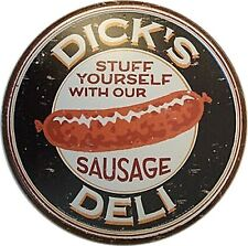 Placca in metallo Cartello Dicks Deli Sausage Salsicce