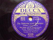 W/12/13 Schellackplatte Die Fischerin vom Bodensee Golgowsky-Quartett Waldspecht